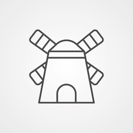 Windmill icon vector isolated on white background, Windmill sign. Power, element.  イラスト・ベクター素材