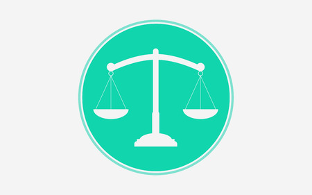 Balance, libra icon vector, filled flat sign, solid pictogram isolated on white. Justice scales symbol, logo illustration. Illustration