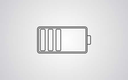 battery icon design - This Vector EPS 10 illustration is best for print media, web design, application design user interface and infographics with well composed layers for the ease of user.