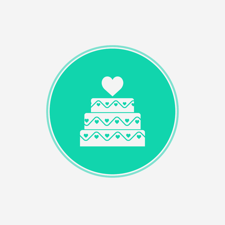 Birthday cake line icon. Vector logo for bakery, party service. Tasty torte thin linear symbol for event agency. Linear illustration of dessert. 일러스트