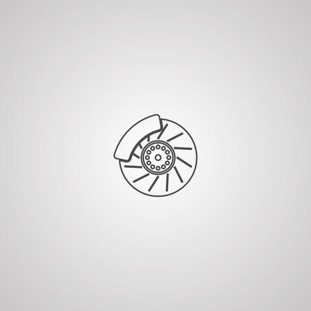 Car brake support disk line icon, outline vector sign, linear style pictogram isolated on white. Symbol, logo illustration. Editable stroke Illustration