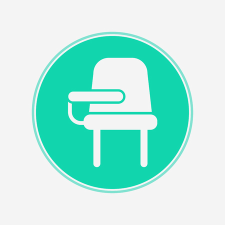 School desk chair icon vector, filled flat sign, solid pictogram isolated on white. Symbol, logo illustration. Pixel perfect vector graphics Illustration
