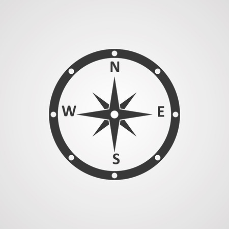 Compass line icon, outline vector sign, linear style pictogram isolated on white. Navigation symbol, logo illustration. Editable stroke