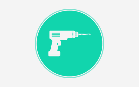 Cordless drill line icon, outline vector sign, linear style pictogram isolated on white. Electric screwdriver symbol, logo illustration. Editable stroke