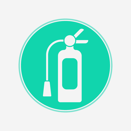 Fire extinguisher icon vector, filled flat sign, solid pictogram isolated on white.