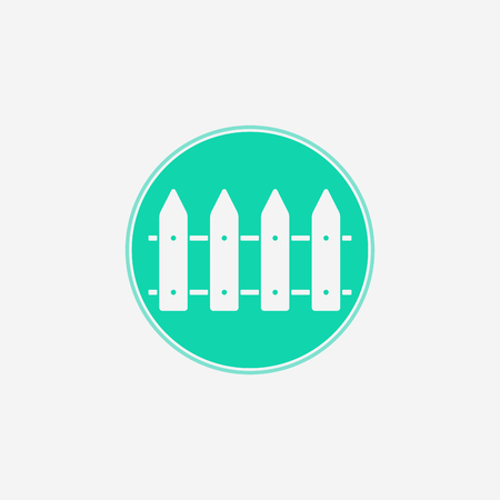 Fence outline icon. linear style sign for mobile concept and web design. Protective fence simple line vector icon. Symbol, logo illustration. Pixel perfect vector graphics Vectores
