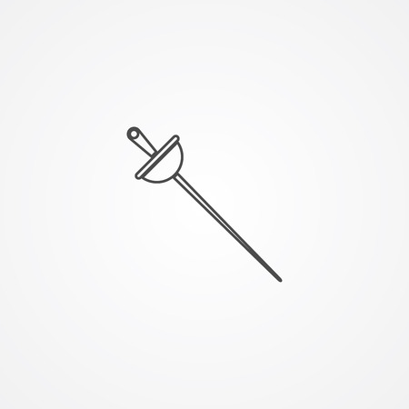 Fencing swords icon, vector illustration, black sign on isolated background Illustration