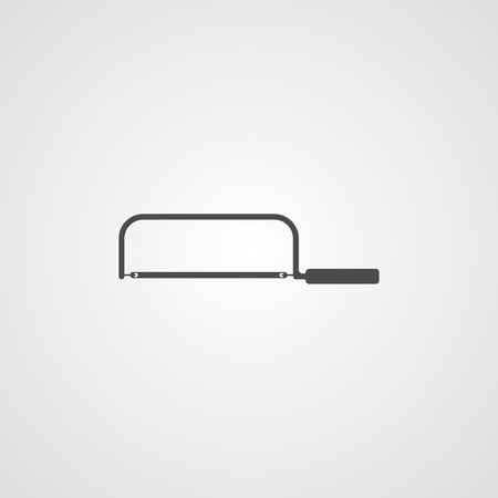 hacksaw  icon vector, filled flat sign, solid pictogram isolated on white. Symbol illustration.