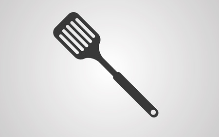 kitchen spatula icon vector, filled flat sign, solid pictogram isolated on white. Symbol  illustration.