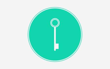 Key  icon vector, filled flat sign, solid pictogram isolated on white. Symbol illustration. Illustration