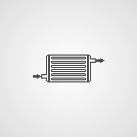 intercooler icon vector, filled flat sign, solid pictogram isolated on white. Symbol illustration.
