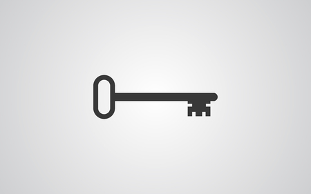 Key  icon vector, filled flat sign, solid pictogram isolated on white. Symbol illustration. Ilustrace
