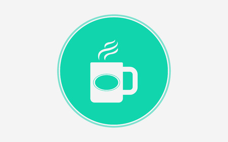 mugicon vector, filled flat sign, solid pictogram isolated on white. Symbol illustration. Vectores