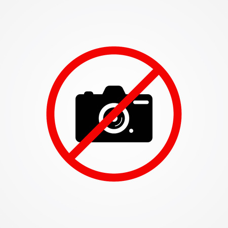 no photoicon vector, filled flat sign, solid pictogram isolated on white. Symbol illustration.