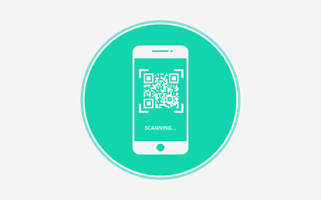 Qr code icon vector, filled flat sign, solid pictogram isolated on white. Symbol illustration.