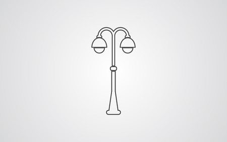 street light icon vector, filled flat sign, solid pictogram isolated on white. Symbol illustration.