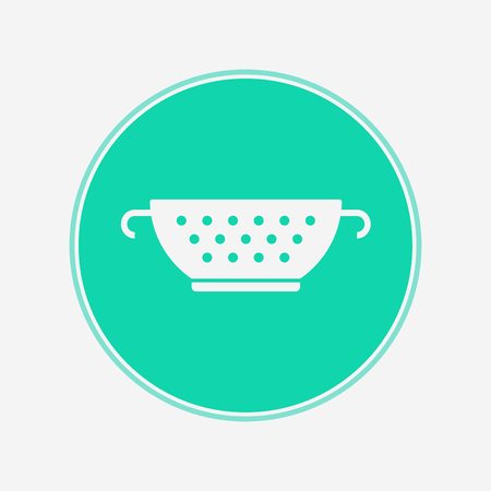 strainer icon vector, filled flat sign, solid pictogram isolated on white. Symbol illustration.