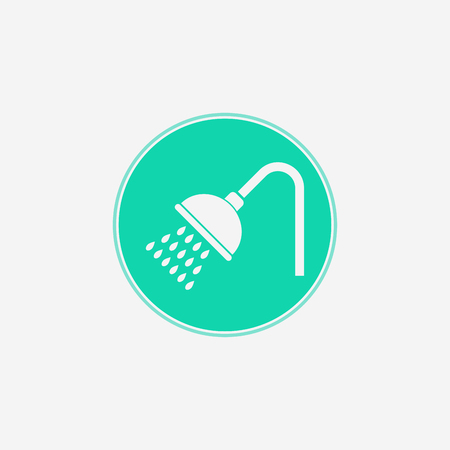 shower icon vector, filled flat sign, solid pictogram isolated on white. Symbol  illustration. Illustration