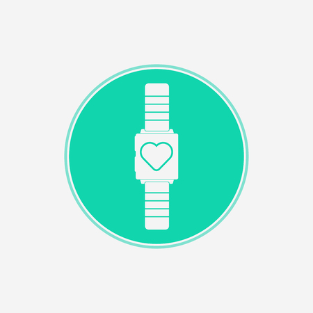 smartwatch icon vector, filled flat sign, solid pictogram isolated on white. Symbol illustration.