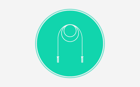 skipping rope icon vector, filled flat sign, solid pictogram isolated on white. Symbol illustration. Illustration