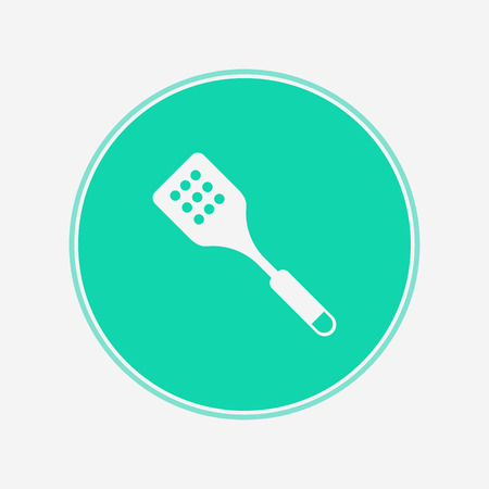spatula icon vector, filled flat sign, solid pictogram isolated on white. Symbol illustration.