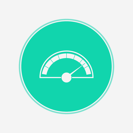 speedometer icon vector, filled flat sign, solid pictogram isolated on white. Symbol  illustration.