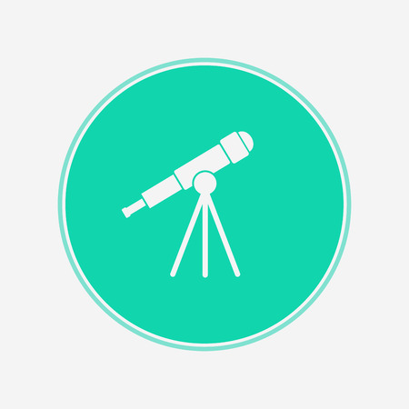 telescope icon vector, filled flat sign, solid pictogram isolated on white Symbol illustration Illustration