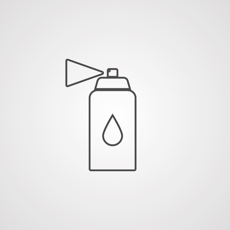 spray icon vector, filled flat sign, solid pictogram isolated on white. Symbol  illustration.