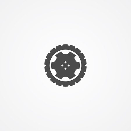 tire icon vector, filled flat sign, solid pictogram isolated on white. Symbol illustration.