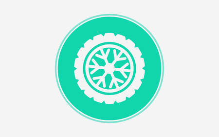 tire icon vector, filled flat sign, solid pictogram isolated on white. Symbol  illustration. Çizim