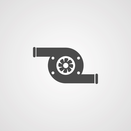 turbo icon vector, filled flat sign, solid pictogram isolated on white. Symbol illustration.