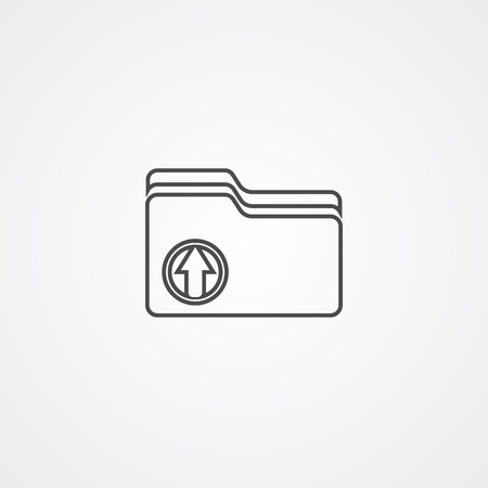 upload icon vector, filled flat sign, solid pictogram isolated on white. Symbol illustration.