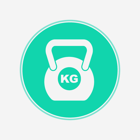 weight icon vector, filled flat sign, solid pictogram isolated on white. Symbol  illustration.