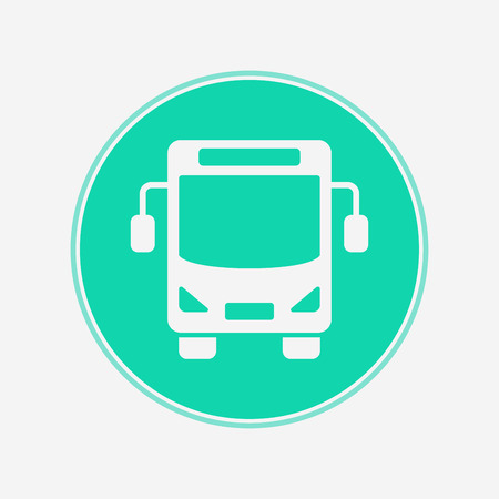 Bus icon vector, filled flat sign, solid pictogram isolated on white. Symbol, logo illustration. Illustration