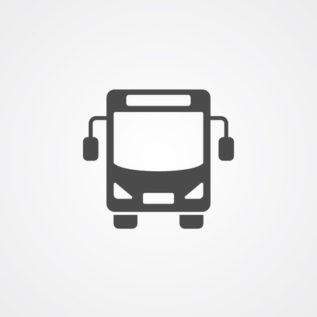 Bus icon vector, filled flat sign, solid pictogram isolated on white. Symbol  illustration. Illustration
