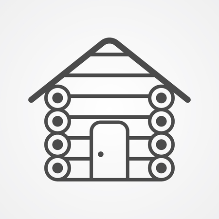 Cabin icon vector, filled flat sign, solid pictogram isolated on white. Symbol  illustration.