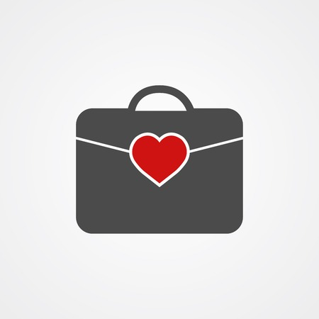 Briefcase icon vector, filled flat sign, solid pictogram isolated on white. Symbol illustration.
