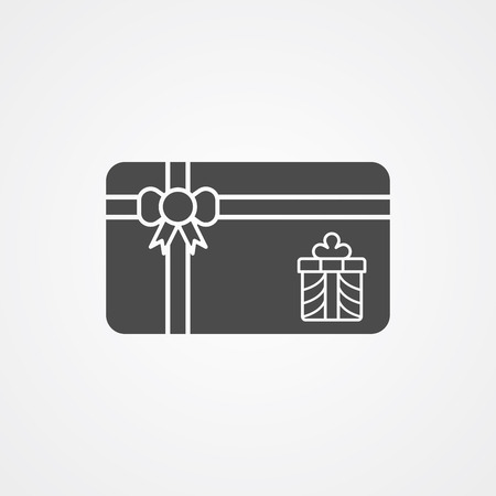 Christmas gift card icon vector, filled flat sign, solid pictogram isolated on white. Symbol, logo illustration. Ilustrace