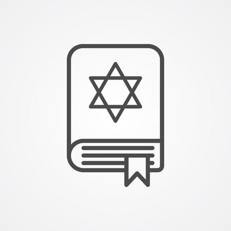 Torah book icon vector, filled flat sign, solid pictogram isolated on white. Symbol, logo illustration. Ilustração