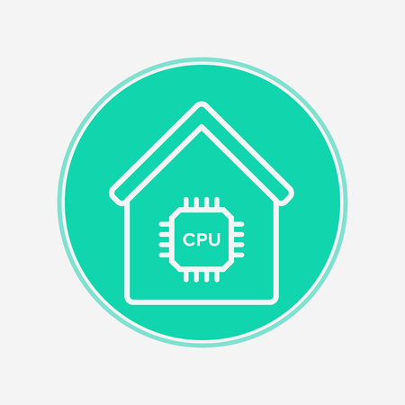 Smart home icon vector, filled flat sign, solid pictogram isolated on white. Symbol, logo illustration. Illustration