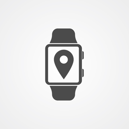 Smartwatch icon vector, filled flat sign, solid pictogram isolated on white. Symbol, logo illustration.