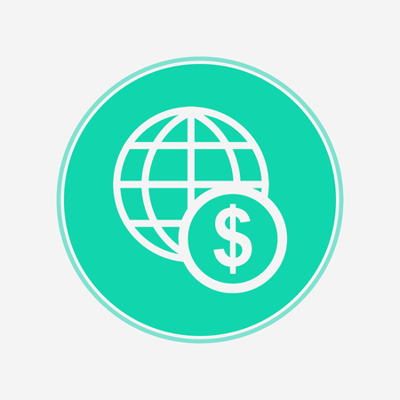 Dollar icon vector, filled flat sign, solid pictogram isolated on white. Symbol, logo illustration.
