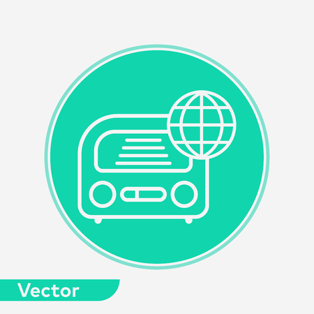 Radio icon vector, filled flat sign, solid pictogram isolated on white. Symbol, logo illustration.