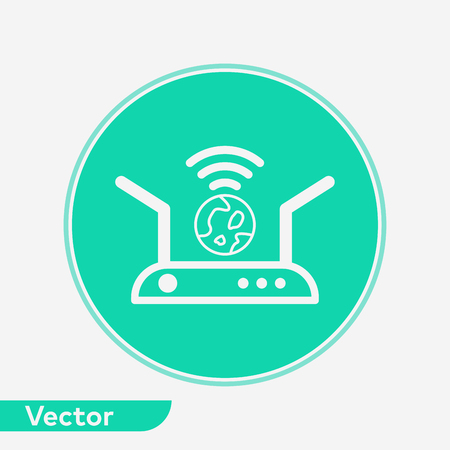Router icon vector, filled flat sign, solid pictogram isolated on white. Symbol, logo illustration. Illustration