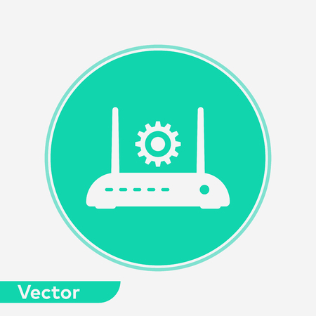 Modem router icon vector, filled flat sign, solid pictogram isolated on white. Symbol, logo illustration. Illustration