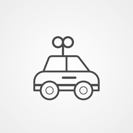 Car toy icon vector, filled flat sign, solid pictogram isolated on white. Symbol, logo illustration.