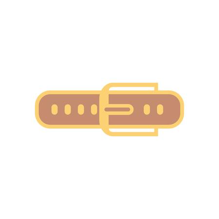 Belt icon vector, filled flat sign, solid pictogram isolated on white. Symbol, logo illustration.