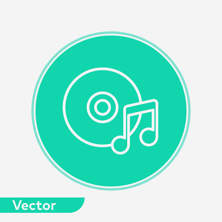 Music disc icon vector, filled flat sign, solid pictogram isolated on white. Symbol, logo illustration. Illustration