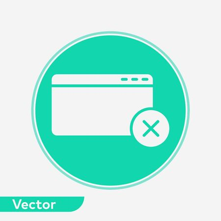 Browser icon vector, filled flat sign, solid pictogram isolated on white. Symbol, logo illustration.