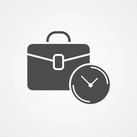 Briefcase icon vector, filled flat sign, solid pictogram isolated on white. Symbol, logo illustration. Иллюстрация
